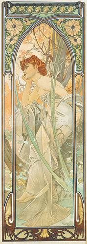 Alfons Mucha: Tageszeiten: Abendträumerei. 1899