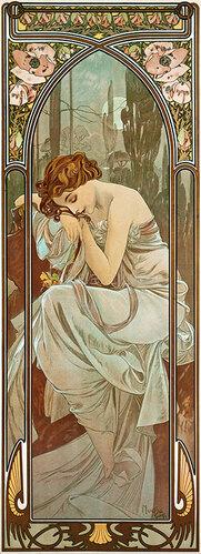 Alfons Mucha: Tageszeiten: Nachtruhe. 1899