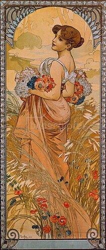 Alfons Mucha: Jahreszeiten: Der Sommer. 1900