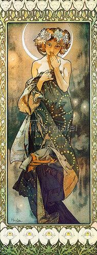 Alfons Mucha: Sterne: Der Mond. 1902. (Variante B).
