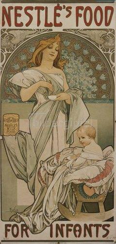 Alfons Mucha: Plakat Nestlé's Food for Infants. 1897