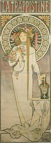 Alfons Mucha: Werbeplakat für 'La Trappistine'. 1897.
