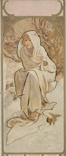Alfons Mucha: Winter. 1897. (Variante C).