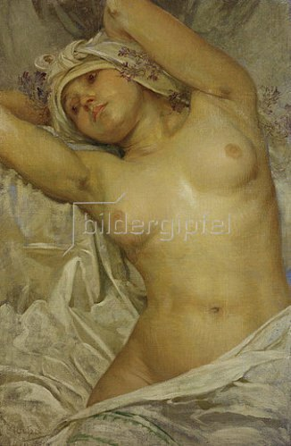 Alfons Mucha: Mädchenakt. 1922.
