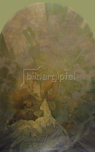 Alfons Mucha: Der Kuss des Frühlings. 1933.
