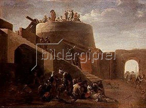 Pieter van Laer: Kalkbrennofen.