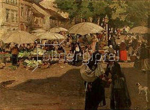 Dominik Skutecky: Markttag in Banská Bystrica. Vor 1907.