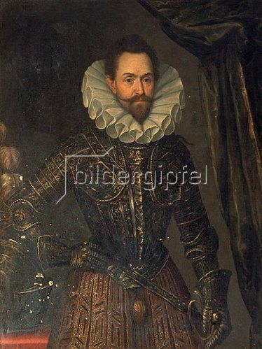Anonym: Albrecht von Wallenstein. Portraitbild eines zeitgenössischen Malers.