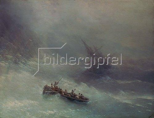 Iwan Konstantinovich Aiwassowskij: Der Regenbogen (Schiffbruch). 1873