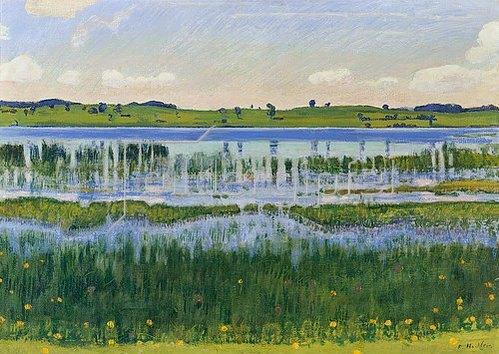 Ferdinand Hodler: Ufer am Aeschi-See. 1902.