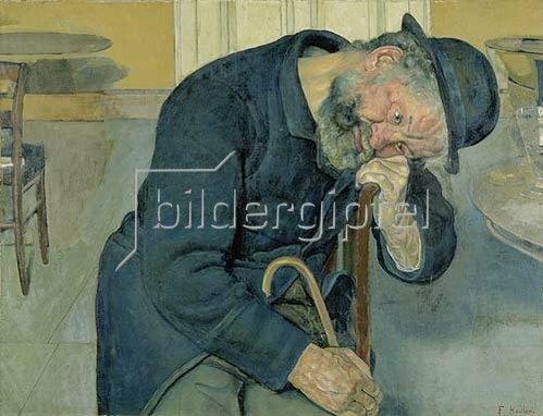 Ferdinand Hodler: Enttäuschte Seele. 1891. (Alter Mann).