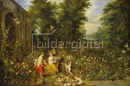 Jan Brueghel d.J.: Allegorie des Frühlings (Flora im Blumengarten)