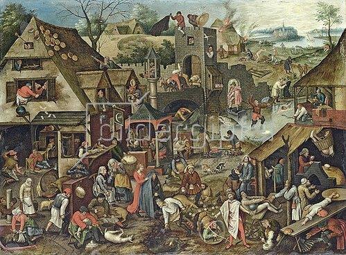 Pieter Brueghel d.J.: Die Niederländischen Sprichwörter.