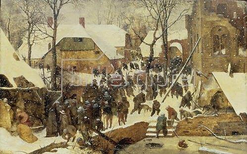 Pieter Brueghel d.Ä.: Die Anbetung der Könige im Schnee. 1567