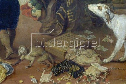 """Hendrick van Balen: Detailaufnahme aus dem Gemälde """"Der Winter"""". 1616"""