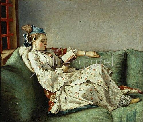 Jean Etienne Liotard: Bildnis der Maria Adelaide, lesend.