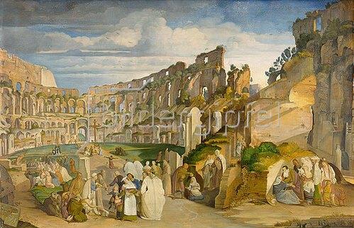 Johann Anton Alban Ramboux: Kapuzinerpredigt im Collosseum