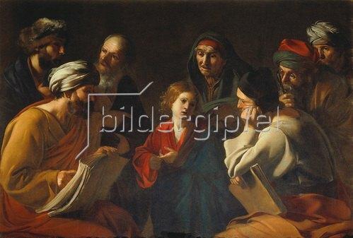 Bartolomeo Manfredi: Der junge Christus und die Schriftgelehrten.