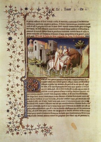 französisch Handschrift: Zug der Heiligen drei Könige. Aus Buch der Wunder ms.fr.2810