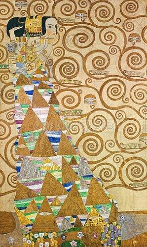 Gustav Klimt: Die Erwartung, Vorlage zum Stocletfries. Um 1905/09