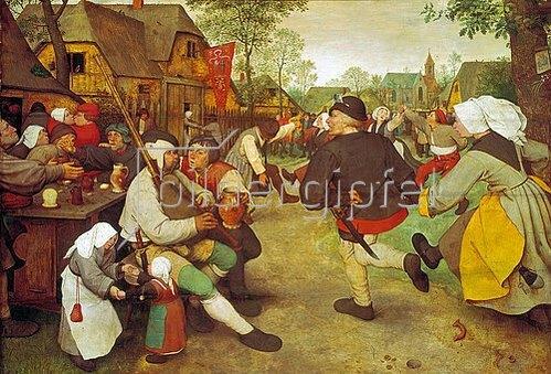 Pieter Brueghel d.Ä.: Bauerntanz. Um 1568