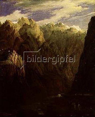 Nikanor Grigorj Tschernezow: Die Schlucht von Darjalsk im Kaukasus. 1832.