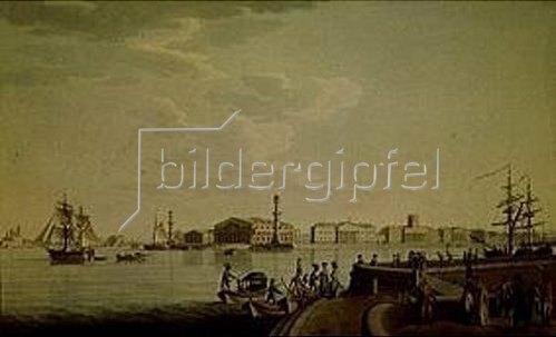 Benjamin Paterssen: St.Petersburg, die Börse. 1807.