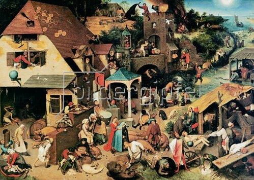 Pieter Brueghel d.Ä.: Die niederländischen Sprichwörter. 1559.