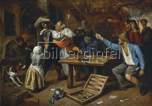 Jan Steen: Der Streit beim Kartenspiel. Um 1664/65