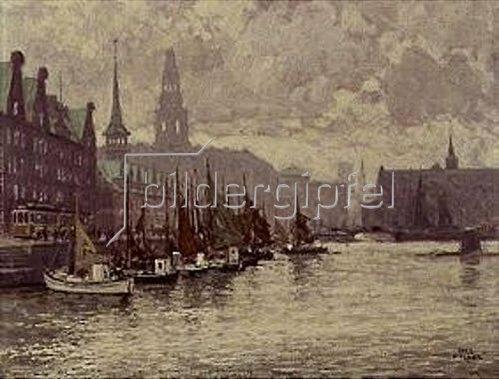 Paul Fischer: Kopenhagen. Die Börse.