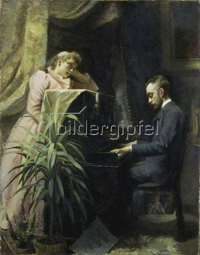 Emma Sparre: Am Piano (Verner von Heidenstam?). 1891