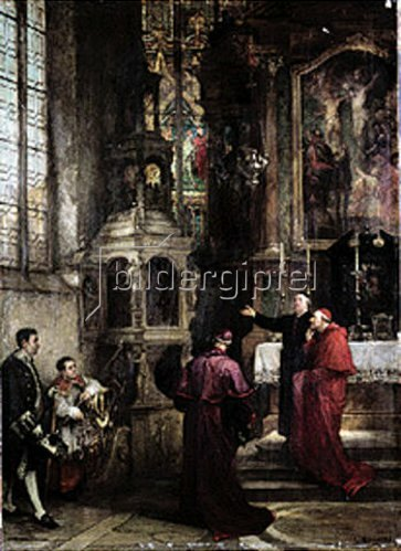 Ludwig von Hagn: Hoher Kirchenbesuch. 1883.
