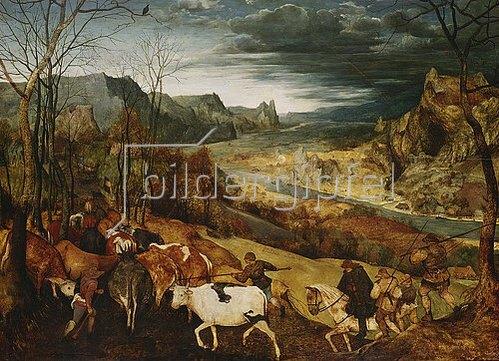 Pieter Brueghel d.Ä.: Die Heimkehr der Herde. (Aus: Die Jahreszeiten). 1565