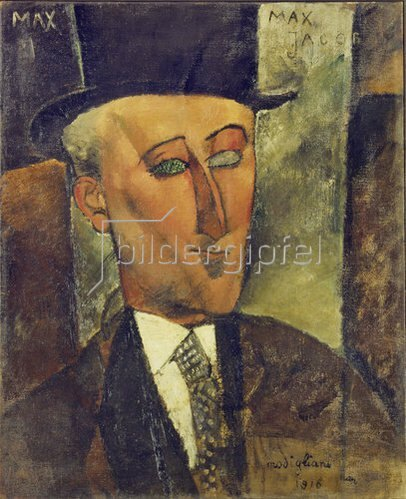 Amadeo Modigliani: Bildnis Max Jacob. 1916