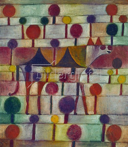 Paul Klee: Kamel in rhythmischer Baumlandschaft. 1920.