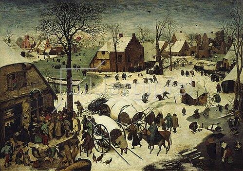 Pieter Brueghel d.Ä.: Die Volkszählung zu Bethlehem. 1566