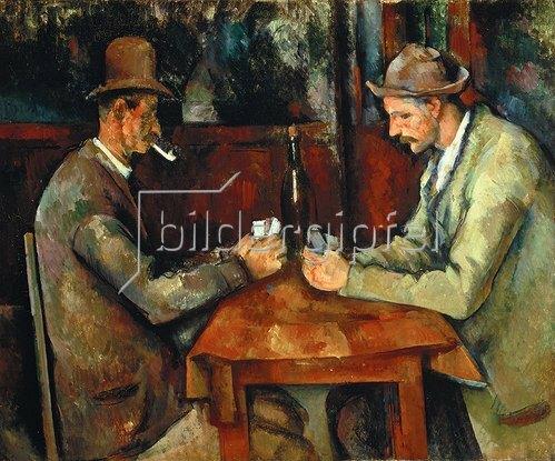 Paul Cézanne: Die Kartenspieler. Gegen 1890/95