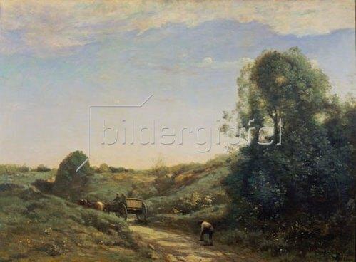 Jean-Baptiste Camille Corot: Der kleine Wagen.