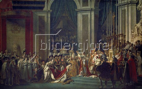 Jacques Louis David: Krönung Napoleons I. und Josephines in Notre Dame Paris mit Papst Pius VII.