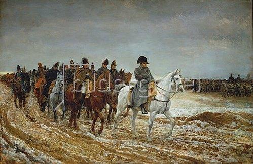 Ernest Meissonier: Napoleon und die Generäle Ney, Berthier, Drouaut, Gourgaud und de Flahaut im Feldzug 1814