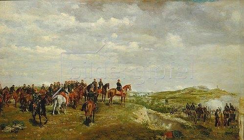 Ernest Meissonier: Napoleon III. in der Schlacht von Solferino 1859.