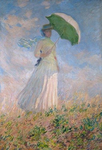Claude Monet: Frau mit Sonnenschirm, nach rechts gewendet (Susanne Hoschedé). 1886.