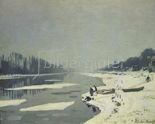 Claude Monet: Eisgang auf der Seine bei Bougival. (o.J.)