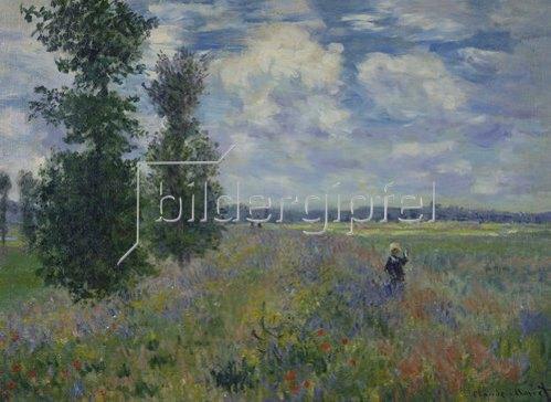 Claude Monet: Les Coquelicots (environs de Argenteuil) 1873.