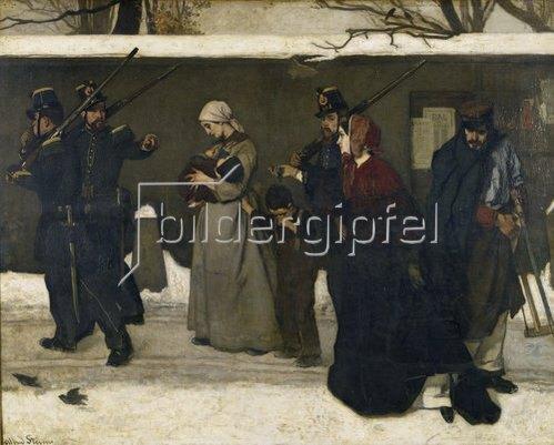 Alfred Stevens: Die Verhaftung der Landstreicher. Vor 1855.