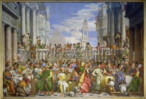 Paolo (Paolo Caliari) Veronese: Die Hochzeit zu Kanaa. Um 1562/63