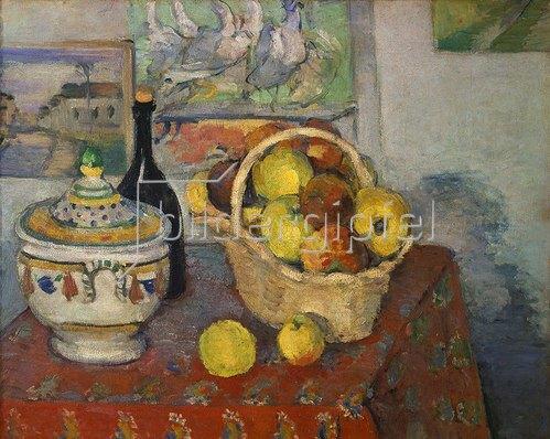 Paul Cézanne: Stilleben mit Obstkorb und Suppenterrine 1888/89
