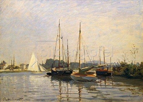 Claude Monet: Segelboote in Argenteuil. Gegen 1872/73