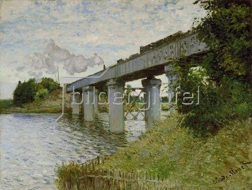Claude Monet: Eisenbahnbrücke bei Argenteuil. Gegen 1873/74