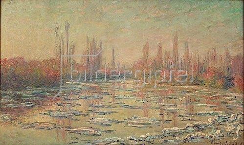 Claude Monet: Eisschollen auf der Seine bei Vetheuil. 1880.